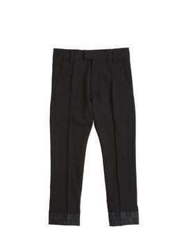 TWILL PANTS WITH DENIM HEM