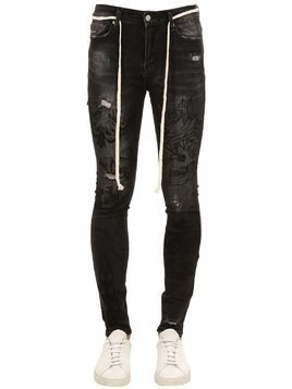 BLACK HAND ART COTTON DENIM JEANS