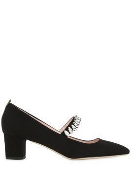 50MM DAZZLE SUEDE MARY JANE PUMPS
