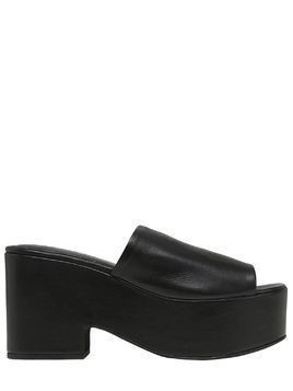 90MM LEATHER SLIDE WEDGES