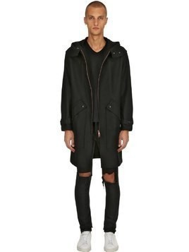 RUGGERO TV RAW CUT FELT PARKA