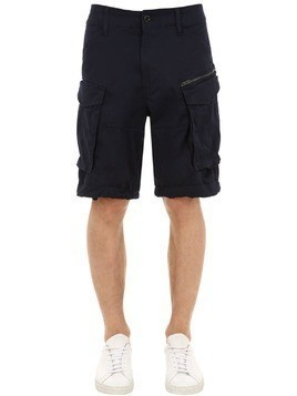 ROVIC RELAXED COTTON TWILL CARGO SHORTS