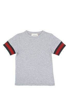 COTTON JERSEY T-SHIRT W/ WEB DETAIL