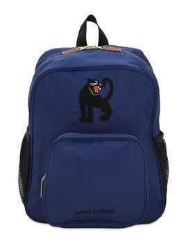 PANTHER PRINT NYLON CANVAS BACKPACK