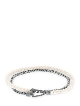LASH CHAIN & ROPE DOUBLE BRACELET