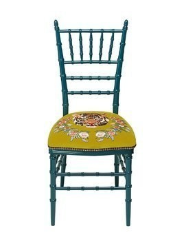 CHIAVARI CHAIR WITH EMBROIDERED TIGER