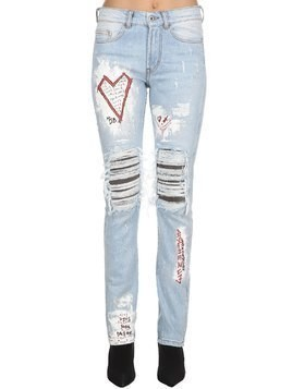 CRIXUS III DESTROYED DENIM JEANS