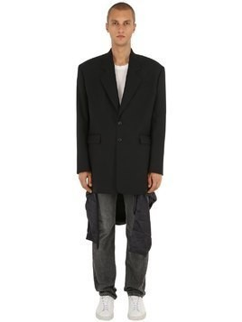 OVERSIZED WOOL JACKET W/ VISIBLE LINING