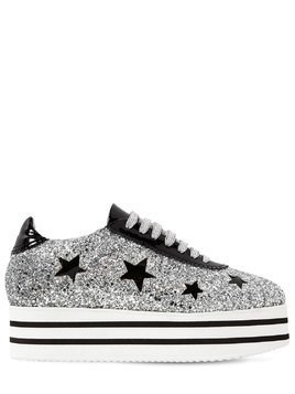 50MM GLITTERED PLATFORM SNEAKERS