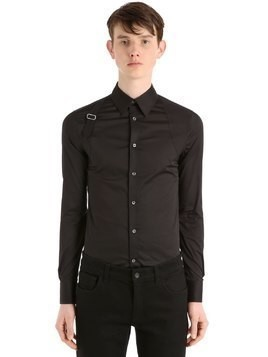 STRETCH COTTON POPLIN HARNESS SHIRT