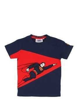 SUPERMAN PRINTED COTTON JERSEY T-SHIRT
