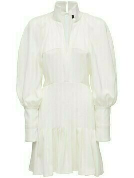 Butler Crepe Shirt Mini Dress
