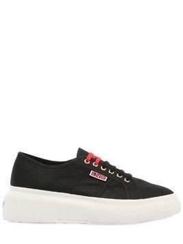 LVR EDITIONS CANVAS PLATFORM SNEAKERS