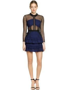 HAZEL LACE MESH MINI DRESS