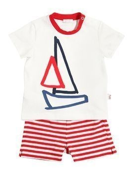 SAILBOAT COTTON JERSEY T-SHIRT&SHORTS