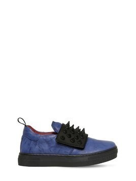 SPIKES NAPPA LEATHER SNEAKERS