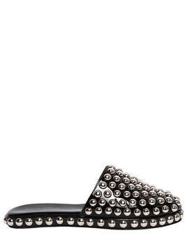 10MM STUDDED PATENT LEATHER MULES