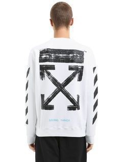 STRIPES&ARROWS LOGO COTTON SWEATSHIRT
