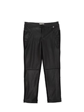 FAUX LEATHER & MILANO JERSEY PANTS