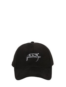 ACW PRINTED FAUX SUEDE HAT