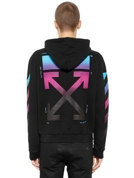 GRADIENT ARROWS ZIP-UP SWEATSHIRT HOODIE