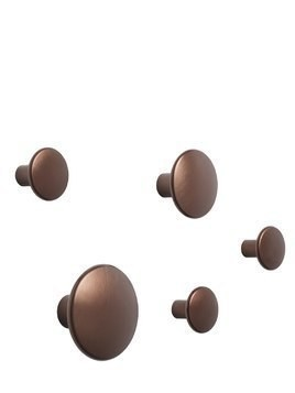 THE DOTS SET OF 5 WALL HOOKS