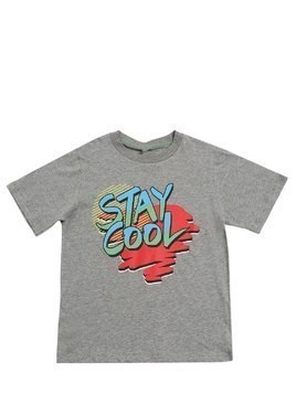 STAY COOL PRINTED COTTON JERSEY T-SHIRT