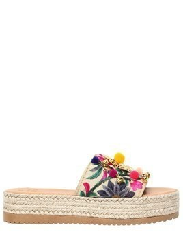 45MM JUNGLE EMBROIDERED SANDALS