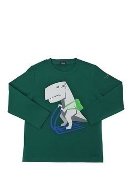 DINO SKI PRINTED COTTON JERSEY T-SHIRT
