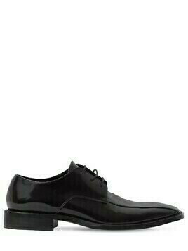 Patent Leather Rim Derby Lace-up Shoes