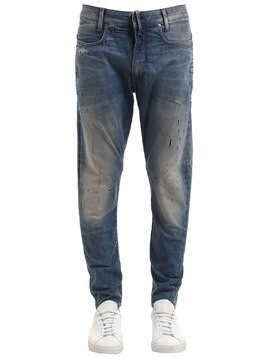 D-STAQ 3D SUPER SLIM RIPPED DENIM JEANS
