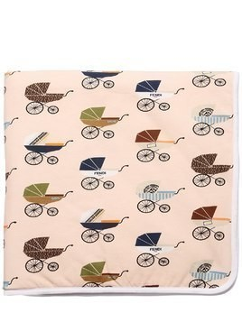 BUGGY PRINT COTTON JERSEY BLANKET