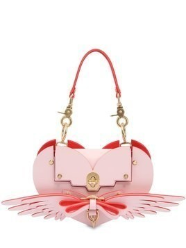 WINGS HEART LEATHER SHOULDER BAG