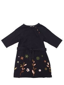 EMBROIDERED COTTON GABARDINE DRESS