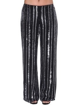 BEADS AND SEQUINS EMBELLISHED TROUSERS