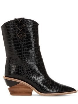 60MM EMBOSSED CROC COWBOY BOOTS