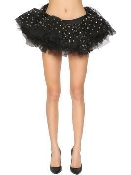 STUDDED TULLE MINI SKIRT