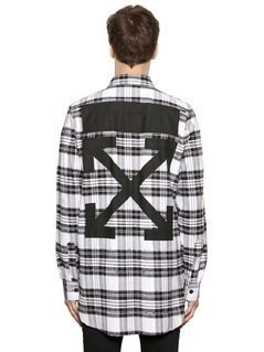 ARROWS DISTRESSED PLAID FLANNEL SHIRT