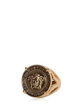MEDUSA COIN VINTAGE GOLD RING