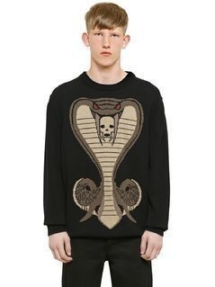 COBRA JACQUARD COTTON KNIT SWEATER