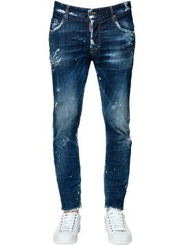 16CM SKATER COTTON DENIM JEANS