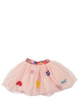 STRETCH TULLE SKIRT W/ SEQUINS & GLITTER