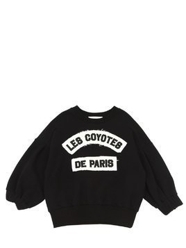 LOGO PATCH COTTON BLEND SWEATSHIRT