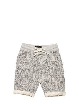 THE SIMPSONS PRINT COTTON SWEAT SHORTS