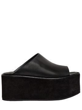 85MM LEATHER PLATFORM MULES