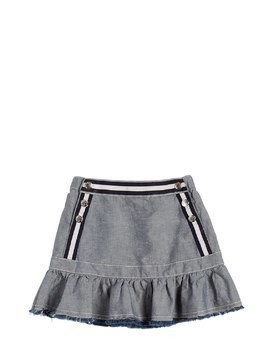 COTTON CHAMBRAY SKIRT