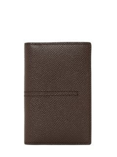 GRAINED LEATHER VERTICAL CARD HOLDER