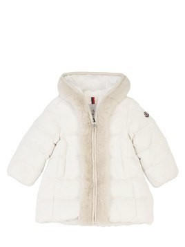 FAUX FUR & NYLON DOWN COAT