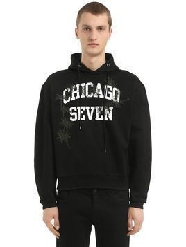 CHICAGO SEVEN HOODED COTTON SWEATSHIRT