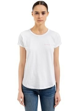 AMOUR EMBROIDERED COTTON JERSEY T-SHIRT